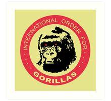 International Order For Gorillas Art Print