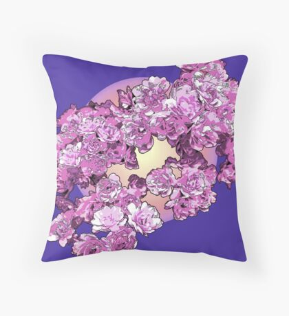 More Pink Flowers Throw Pillow