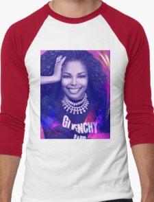 Beautiful Janet  Men's Baseball ¾ T-Shirt