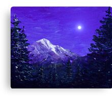 Moon Mountain Canvas Print