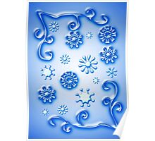 Glass Snowflakes Poster