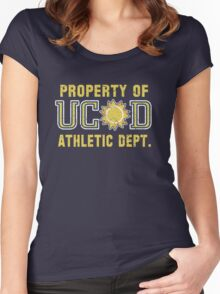 Property of UCSD Athletic Dept. Women's Fitted Scoop T-Shirt