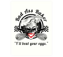 Bad Ass Baker: Skull 7 Art Print