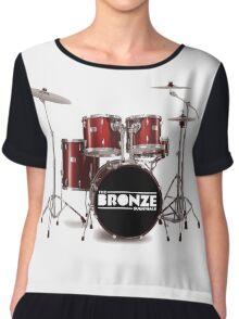 Buffy The Bronze Sunnydale Drums  Chiffon Top