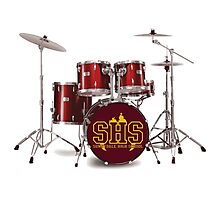 Buffy SHS Sunnydale High School Drums Photographic Print