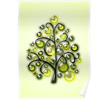 Green Glass Ornaments Poster