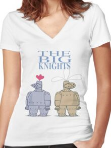 The Big Knights Women's Fitted V-Neck T-Shirt
