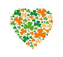Lucky Heart Clover Nr. 04 by silvianeto