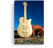 The Big Golden Guitar Canvas Print
