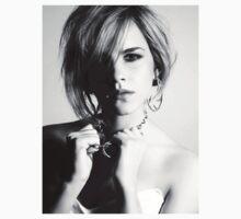 Emma Watson Face B/W by ratest