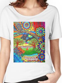 'Intergalactic Fox' Women's Relaxed Fit T-Shirt