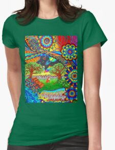 'Intergalactic Fox' Womens Fitted T-Shirt
