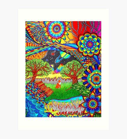'Intergalactic Fox' Art Print