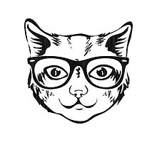 Hipster Cat by Silvia Neto