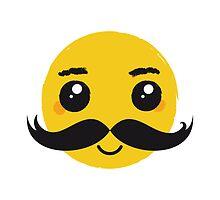 Smile Kawaii Mustache Nr. 01 by silvianeto