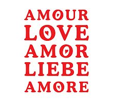 The Language of Love - Text Art by silvianeto