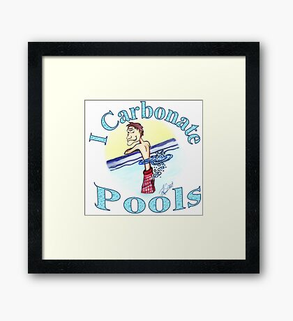 I Carbonate Pools Framed Print