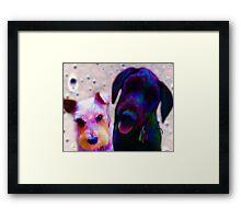 Mia & Eviticus  Framed Print