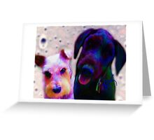 Mia & Eviticus  Greeting Card