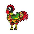 Symbols of Portugal - Rooster Nr. 05 by silvianeto