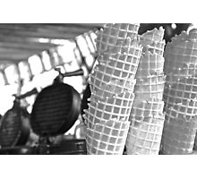 Waffle Cones Photographic Print