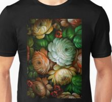 Zhostovo Vintage Russian Floral Pattern Unisex T-Shirt