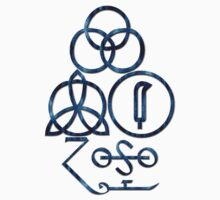 LED ZEPPELIN BAND SYMBOLS (BLUE SNAKE) by Endlessgrief