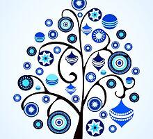 Blue Ornaments by Anastasiya Malakhova