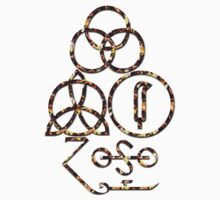 LED ZEPPELIN BAND SYMBOLS (BRIMSTONE) by Endlessgrief