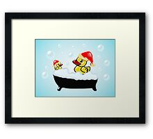 Christmas Ducks Framed Print