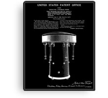Milkshake Machine Patent - Black Canvas Print