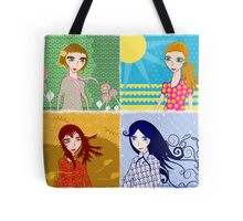 Four Seasons  - Spring, Summer, Autumn, Winter Tote Bag