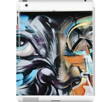 Abstract Graffiti Face on the textured brick wall iPad Case/Skin