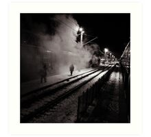 Goodbye Desolate Railyard  Art Print