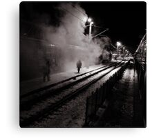 Goodbye Desolate Railyard  Canvas Print