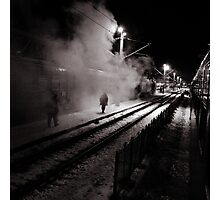 Goodbye Desolate Railyard  Photographic Print