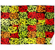 Fall Leaves Quilt Poster