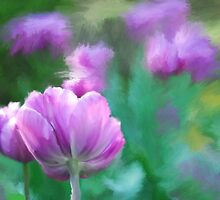 Painted Pink Tulips by MaryTimman