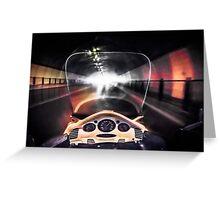 Speeding through the tunnel Greeting Card