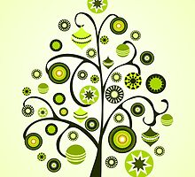 Green Ornaments by Anastasiya Malakhova