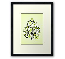 Green Ornaments Framed Print