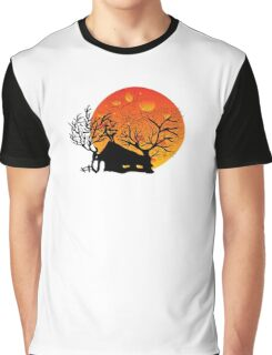 Sunset House Graphic T-Shirt