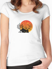 Sunset House Women's Fitted Scoop T-Shirt