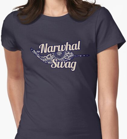 Narwhal SWAG Womens Fitted T-Shirt