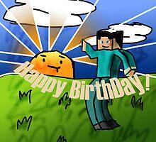 Minecraft Birthday Card by quikdraw