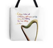 Celtic harp Tote Bag
