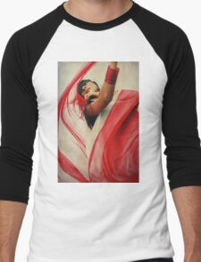 of color.  Men's Baseball ¾ T-Shirt