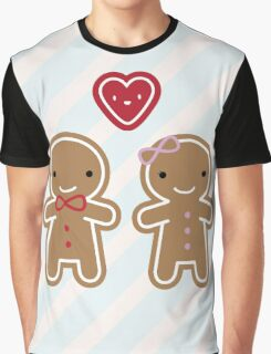Cookie Cute Gingerbread Couple Graphic T-Shirt