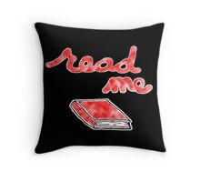 Read Me in Red Throw Pillow