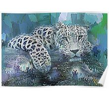 Leopard Abstract Poster
